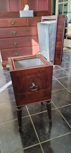 Antique Standing Cigar/Tobacco Humidor Cabinet plus more