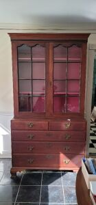 "Antique China Cabinet 45"" wide, 22""Deep, 85.5"" Tall"