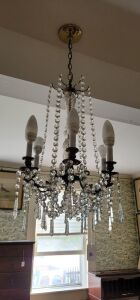 Crystal curved arm Chandelier