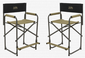 Alps Tall Directors Chairs NWTF Logo set of 2