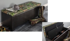 Gun Concealment Bench with MO Obsession TopVinyl Sides #531