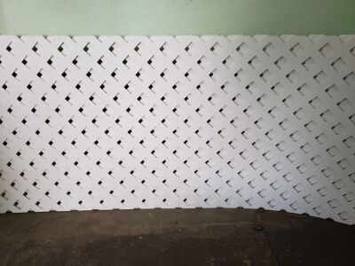 (6) Vinyl Lattice - New 2'x 8'