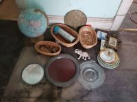 Globe, Baskets, and Décor Lot