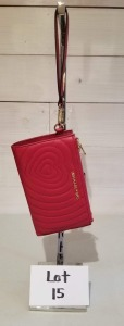 Quilted dual zip wristlet by Michael Kors