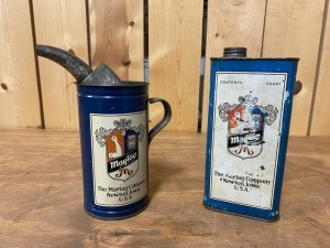 Pair of Maytag Oil Cans