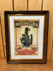 French IHC Moteur CIMA Poster Reproduction Lithograph