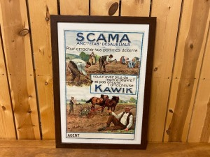 Scama French Agricultural Equipment Poster