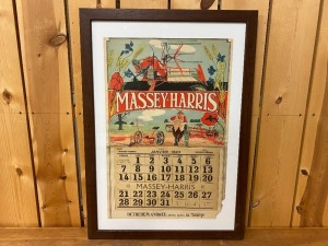 Massey Harris 1923 French Calendar