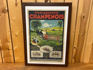 Champion French Equipment Poster