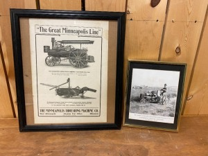 Pair of Framed Advertisements