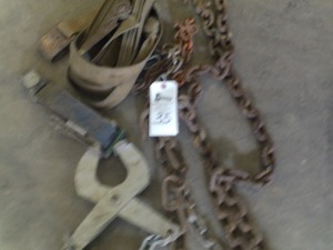 (2) Small Log Chains and Grab Hook