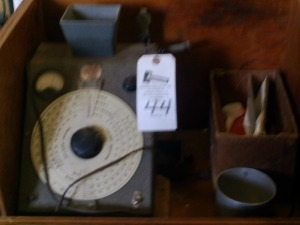 Antique Moisture Tester in Wooden Box