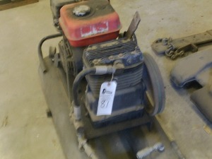 Gas Powered Air Compressor, works