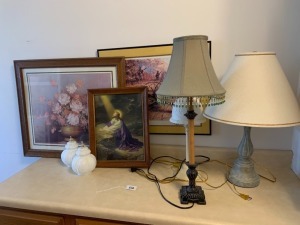Misc Lamps & Framed Photos