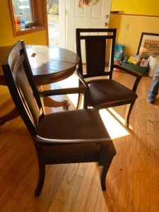 (2) Wooden Arm Chairs