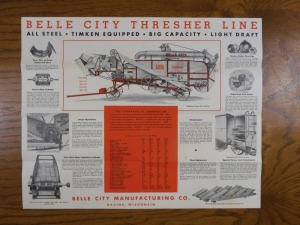 Bell City Threshing Machine Foldout Mailer