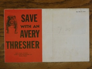Avery Farm Machinery Foldout Mailer