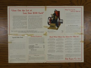 Ellis Engine Co. Foldout Mailer