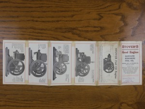 Stover Fuel Oil Engine Foldout Brochure