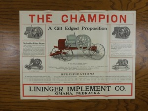 The Champion Engine Foldout Mailer