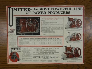 United Engine Co. Foldout Mailer