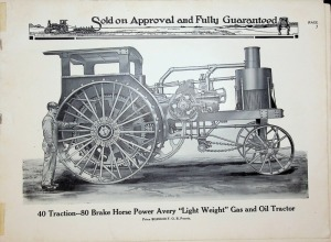 Partial Avery Gas Tractor Catalog