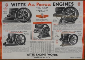 Witte Engine Works, Foldout Witte All Purpose Engines/ Order Blank and Price List/ With envelope