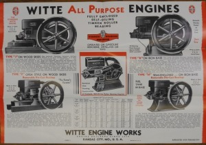 Witte Engine Works, Foldout Witte All Purpose Engines/ Order Blank and Price List