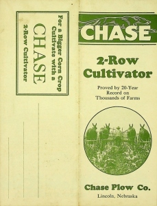 Chase Plow Co., Pocket Foldout, 2-Row Cultivator
