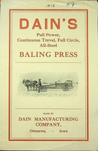Dain's Baling Press Catalog
