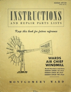 Montgomery Wards Air Chief Windmill Instructions