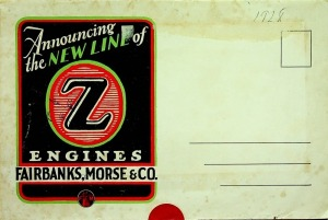 "Fairbanks, Morse & Co., Ltd, The New ""Z"" Engines Foldout information poster mailer"
