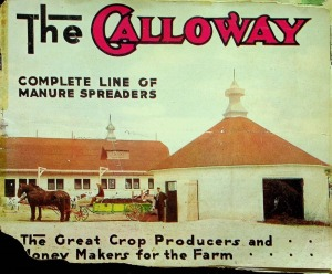 Galloway Complete Line of Manure Spreaders Sales Catalog