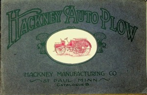 Hackney Manufacturing Co. Catalogue B, Hackney Auto Plow