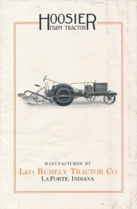 Hoosier Farm Tractor Sales Catalog by LEO Rumely