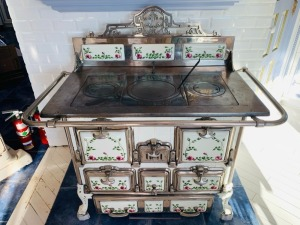 Antique Haren Enamel Stove
