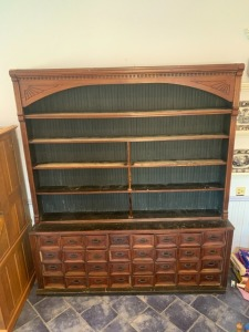 Antique Display  8 FT Wide x 9 FT Tall Apothecary Rack