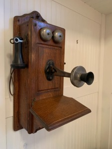 Hand Crank Wall Mounted Kellogg Telephone