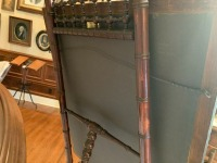 Antique Lithograph - G. Washington - Stick And Ball Walnut Easel - 4