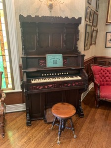 Antique Victorian Macks' Parlor Organ With Stool