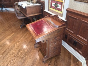 Antique East Lake Davenport Desk - Walnut