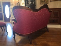 Antique Victorian Carved Mahogany Sofa - 8