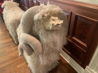 Flocati Wool Chairs by Edna Cataldo C 1970  Sheep and Ram - 4