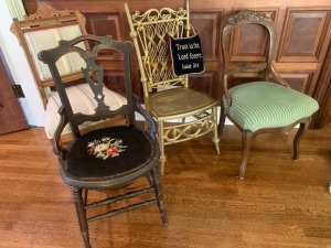 (4) Antique Parlor Chairs