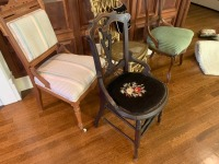 (4) Antique Parlor Chairs - 3
