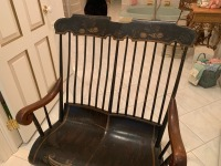 Antique Early American Courting Rocking Chair - 2
