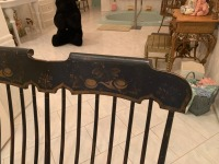 Antique Early American Courting Rocking Chair - 3