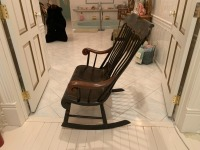 Antique Early American Courting Rocking Chair - 6