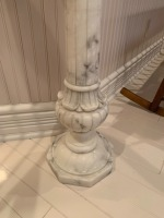 Antique Marble Pedestal With Putti Statue - 3