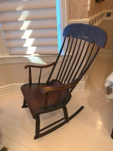 Early American Comb Back Rocking Chair